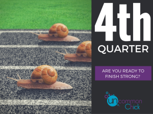 4th Quarter Is Here! Here's My 3 Step Plan to Finish Strong.