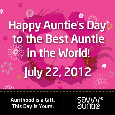 Aunties Day Poster I Love my savvy auntie