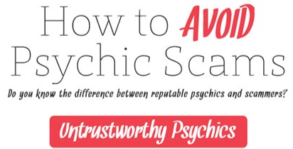 How to Avoid Psychic Scams (Infographic)
