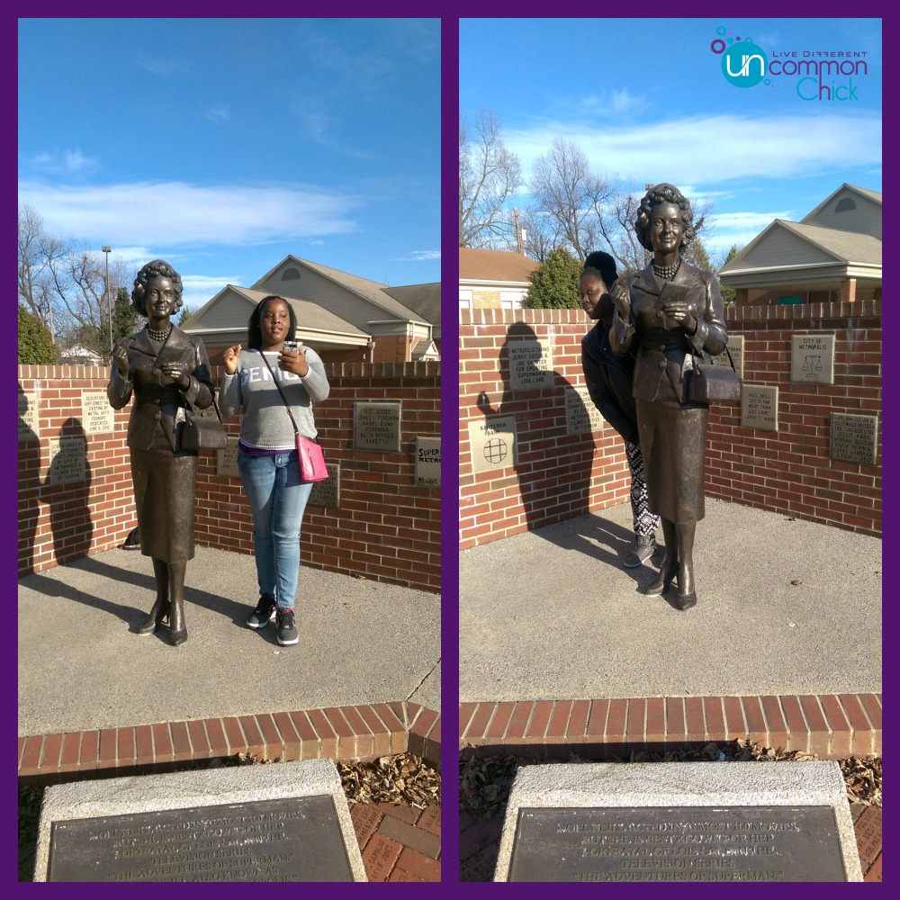 Lois Lane statue in Metropolis, IL - down the street from Superman