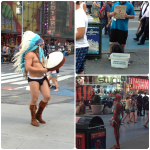 NYC strange people time square Collage