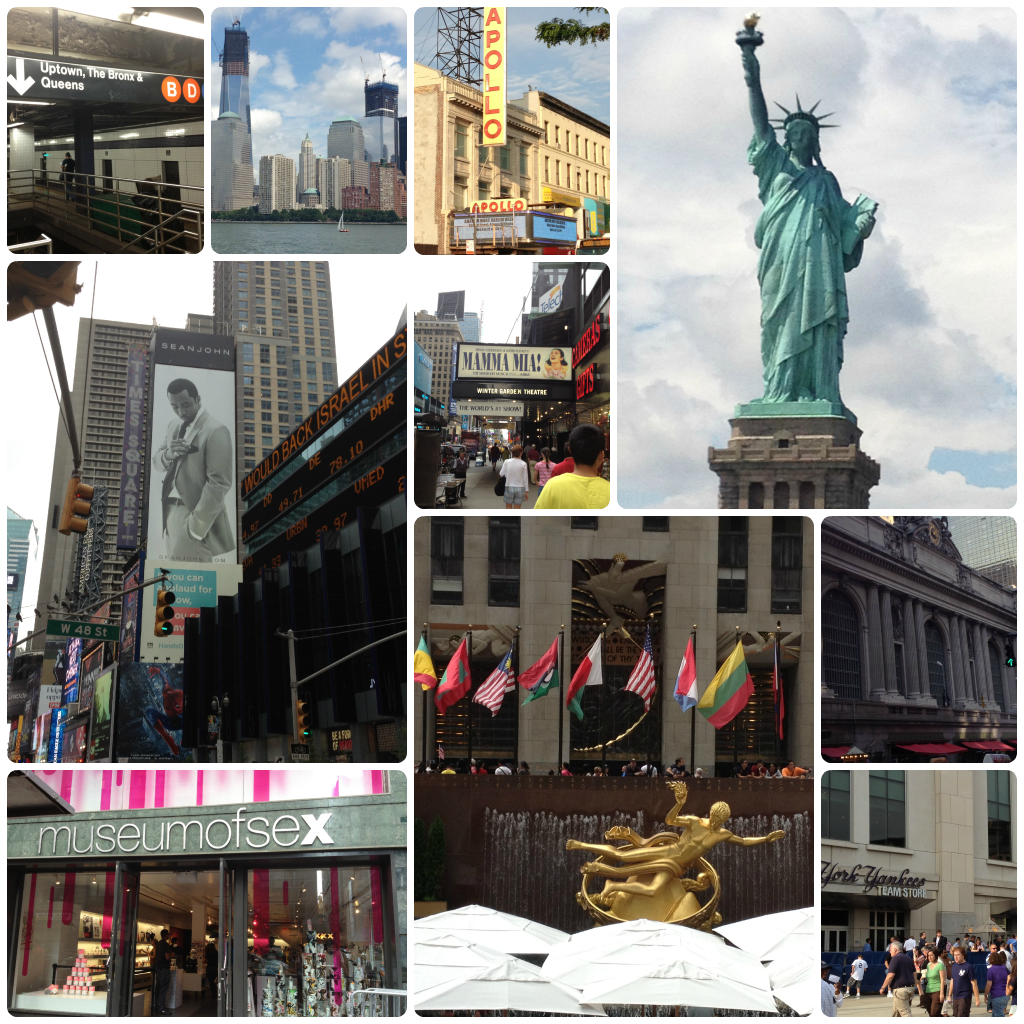 NYC trip places Collage