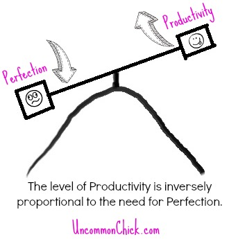 Perfection vs Productivity...the see saw of perfectionism