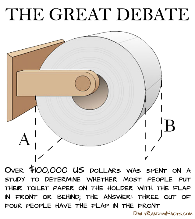 toilet paper debate weird habit