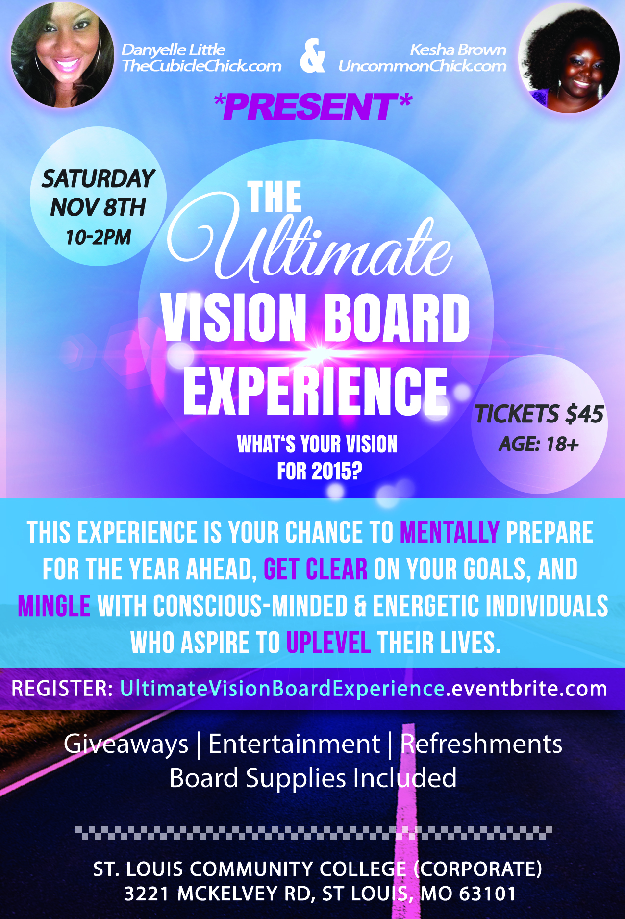 Ultimate Vision Board Experience Flyer Uncommon Chick