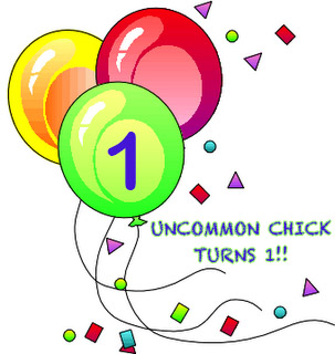 Uncommon Chick turns 1 - blogiversary
