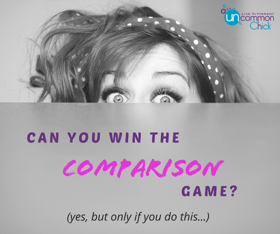 Can you win the comparison game? Yes, but only if you do this...