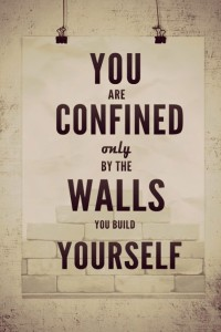 confined to the walls