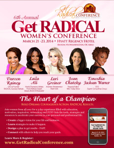 Get RADICAL women's conference flyer