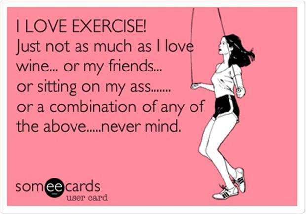 exercise funny choice image