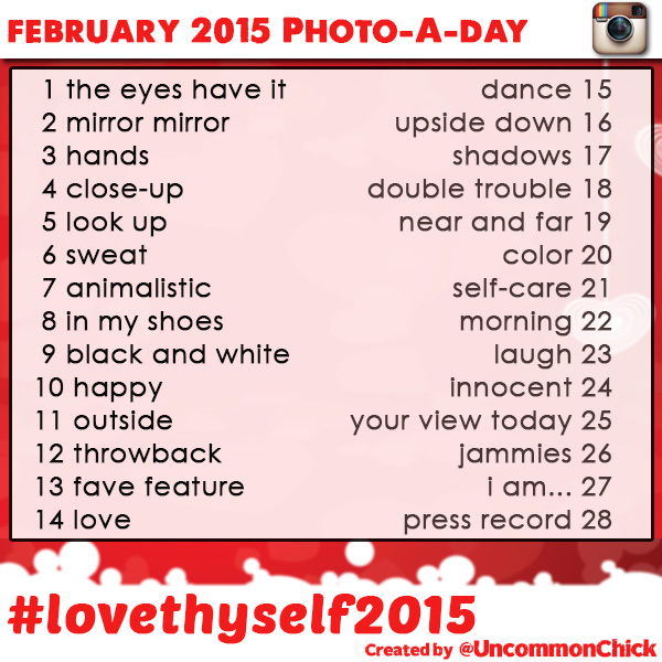 #LoveThyself2015 Photo a day challenge