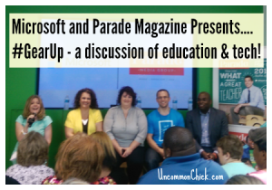 Microsoft and Parade Magazine Presents.... #GearUp - a discussion of education & tech! featured image