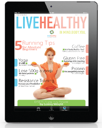 ipad live healthy magazine cover august 2012