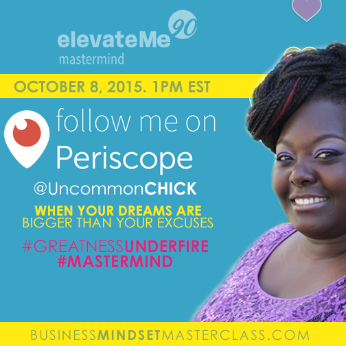 Elevate Me Mastermind Periscope Session with Kesha