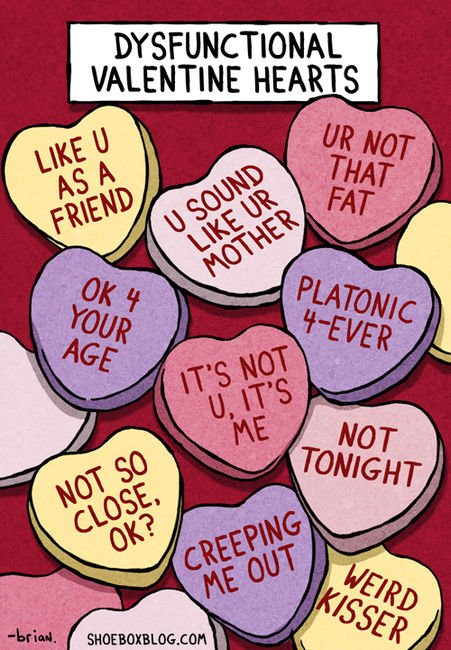 valentine hearts dysfunctional couples