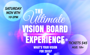 Ultimate Vision Board Experience announcement